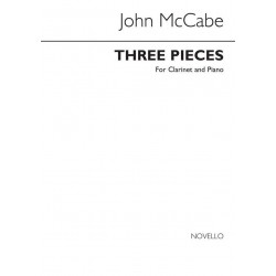 McCabe, John: 3 pieces : for clarinet and piano