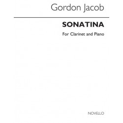 Jacob, Gordon Percival Septimus: Sonatina : for clarinet in A and piano archive copy
