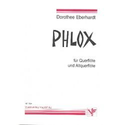 Eberhardt, Dorothee: Phlox für Flöte und Altflöte 2 Spielpartituren