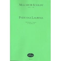 Schildt, Melchior: Paduana Lagrima für Gamben-Consort (SA(B)B(A)B) Partitur und Stimmen