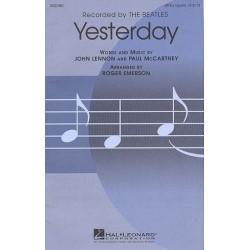 Lennon, John: Yesterday : for mixed chorus (SSATB) score