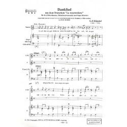 Händel, Georg Friedrich: Danklied aus La Resurrezione für Frauenchor, Melodieinstrumente und Orgel (Klavier), Partitur