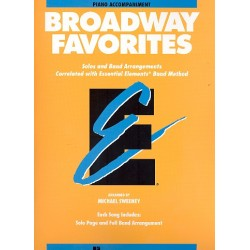 Broadway Favorites : for concert band piano accompaniment