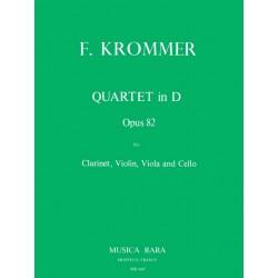 Krommer, Franz Vinzenz: Quartett D-Dur op.82 : für Klarinette, Violine, Viola und Violoncello, Stimmen