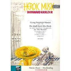 Er weidet seine Herde (Ausgabe in Es-Dur) : für Trompete und Klavier