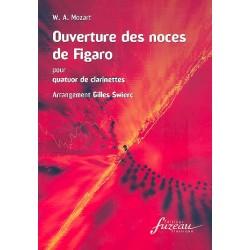 Mozart, Wolfgang Amadeus: Ouverture des noces de Figaro : pour 4 clarinettes partition et parties