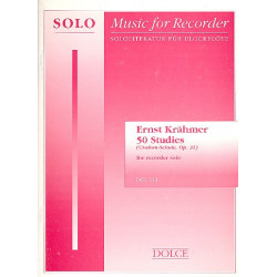 Krähmer, Ernest: 50 Studies op.31 : for recorder solo