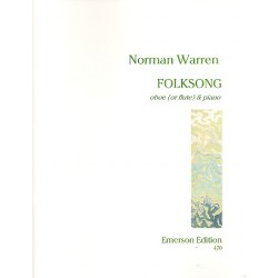 Warren, Norman: Folksong : for oboe (flute) and piano