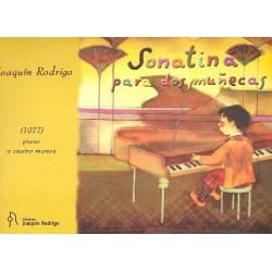 Rodrigo, Joaquin: Sonatina para dos Munecas : para piano a 4 manos