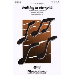 Cohn, Mark: Walking in Menphis : for male chorus (TBB) and piano, score