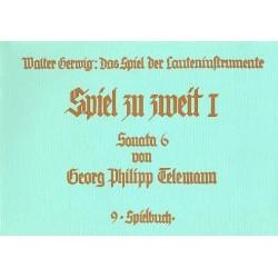 Telemann, Georg Philipp: Sonate Nr.6 : f├╝r 2 Lauten (Gitarren) Spielpartitur
