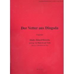 Künneke, Eduard: Der Vetter aus Dingsda : Großes Potpourri für Klavier