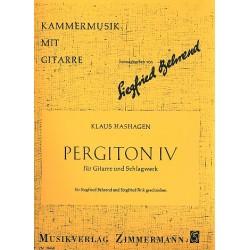 Hashagen, Klaus: Pergiton 4 : f├╝r Gitarre und Schlagwerk