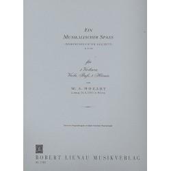 Mozart, Wolfgang Amadeus: Ein musikalischer Spaß KV522 : für 2 Hörner und Streichquartett Stimmen