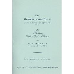 Mozart, Wolfgang Amadeus: Ein musikalischer Spaß KV522 : für 2 Hörner und Streichquartett Studienpartitur