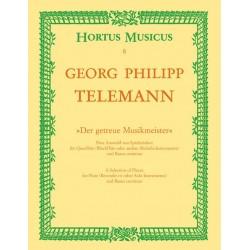 Telemann, Georg Philipp: Der getreue Musikmeister Eine Auswahl von Spielstücken für Flöte und Bc