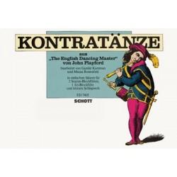 Playford, John: Kontratänze aus The English Dancing Master : für 3 Blockflöten (SSA) und Schlagwerk