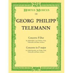 Telemann, Georg Philipp: Konzert F-Dur : Blockfl├Âte und Streicher Partitur