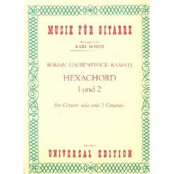 Haubenstock-Ramati, Roman: Hexachord 1 und 2 : für Gitarre solo und 2 Gitarren