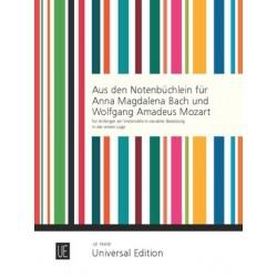 Bekannte Stücke aus den Notenbüchlein für A.M. Bach und W.A. Mozart : für Cello, 2 Celli oder Cello und Klavier