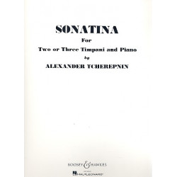 Tcherepnin, Alexander: Sonatina : for 2 or 3 timpani and piano