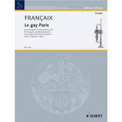 Francaix, Jean: Le gay Paris : für Trompete und Blasinstrumente Stimmen