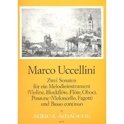 Uccellini, Marco: 2 Sonaten : für Melodieinstrument (VL, Blfl, FL, OB), Posaune und BC Stimmen