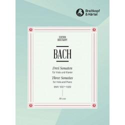 Bach, Johann Sebastian: 3 Sonaten BWV1027-1029 für Viola da gamba und Bc : für Viola und Klavier