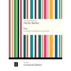 Berlioz, Hector: Trio : f├╝r 2 Fl├Âten und Harfe Partitur und Fl├Âtenpartitur