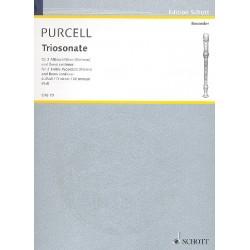 Purcell, Daniel: Triosonate d-Moll : f├╝r 2 Altblockfl├Âten und Klavier Partitur und Stimmen