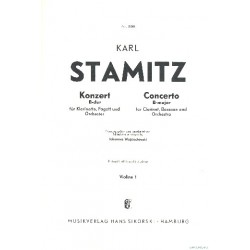 Stamitz, Karl: Konzert B-Dur : für Klarinette, Fagott und Orchester Violine 1
