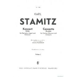 Stamitz, Karl: Konzert B-Dur : für Klarinette, Fagott und Orchester Violine 2
