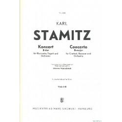 Stamitz, Karl: Konzert B-Dur : für Klarinette, Fagott und Orchester Viola 1/2