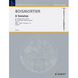 Boismortier, Joseph Bodin de: 6 Sonaten op.7 Band 1 (1,3,4) : für 3 Querflöten ohne Bass Spielpartitur