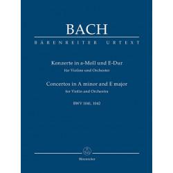 Bach, Johann Sebastian: Konzerte a-Moll BWV1041 und E-Dur BWV1042 : f├╝r Violine und Orchester Studienpartitur