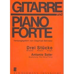 Soler, Antonio: 3 Stücke : für Gitarre und Klavier