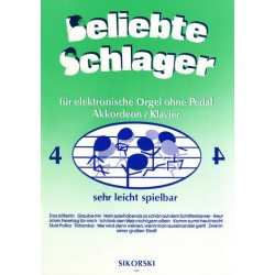 Beliebte Schlager Band 4 : f├╝r E-Orgel ohne Pedal