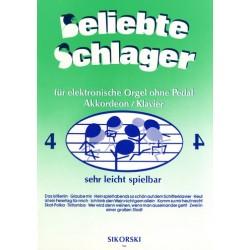 Beliebte Schlager Band 4 : für E-Orgel ohne Pedal