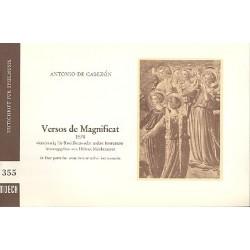 Cabezón, Antonio de: Versos de Magnificat : für 4 Blockflöten oder andere Instrumente, Spielpartitur