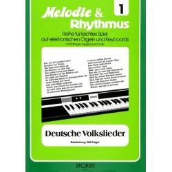 Deutsche Volkslieder: für E-Orgel / Keyboard