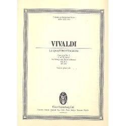 Vivaldi, Antonio: Concerto op.8,3 RV293 : f├╝r Violine, Streichorchester und Bc Violine solo