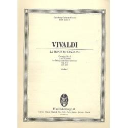 Vivaldi, Antonio: Herbst op.8,3 RV293 : f├╝r Violine,Streichorchester und Bc Violine 1