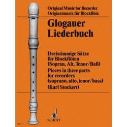 Glogauer Liederbuch : Dreistimmige Sätze für 3 Blockflöten (SAT) Spielpartitur