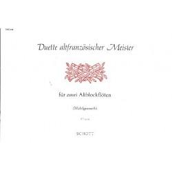 Duette altfranzösischer Meister : für 2 Alblockflöten Spielpartitur
