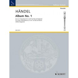 Händel, Georg Friedrich: 11 Pieces : for recorders (sa(t)) and piano, parts