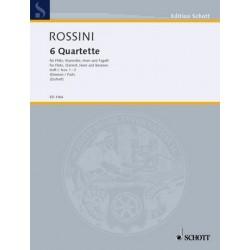 Rossini, Gioacchino: 6 Quartette Band 1 (Nr.1-3) : für Flöte, Klarinette, Horn und Fagott Stimmen