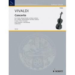 Vivaldi, Antonio: Konzert F-Dur RV551 für 3 Violinen und Streicher für 3 Violinen und Klavier