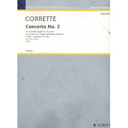 Corrette, Michel: Concerto 2 A-Dur : für Cembalo oder Orgel und Streicher, Partitur