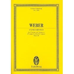 Weber, Carl Maria von: Konzert Es-Dur op.26 : füer Klarinette und Orchester, Studienpartitur