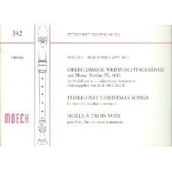 Praetorius, Michael: Dreistimmige Weihnachtsgesänge : für Blockflöten in C oder andere Instrumente, Partitur